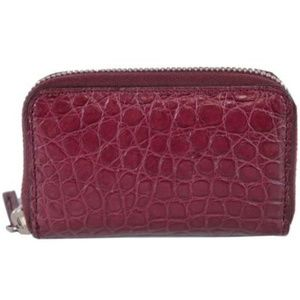 NWT Gucci Mini Cherry Crocodile Card Case 250983